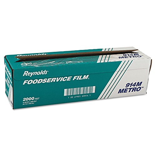 (Reynolds Wrap 914M Metro Light-Duty PVC Film Roll w/Cutter Box, 18