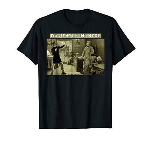 Dr Jekyll Mr Hyde Monster Vintage Horror Movie Poster Tshirt