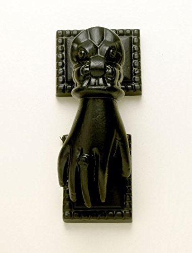 Hand Shaped Black Iron Door Knocker - Intricate and Detailed Design Black Country Metal Works
