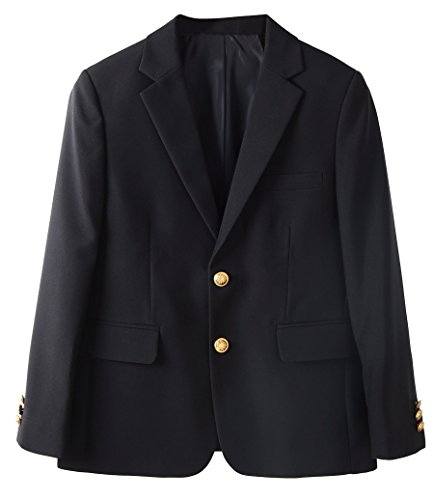Bienzoe Boy's School Uniform Blazer Black 10