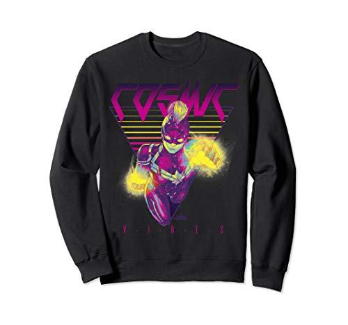 Captain Marvel Cosmic Vibes Retro Triangle Sweatshirt