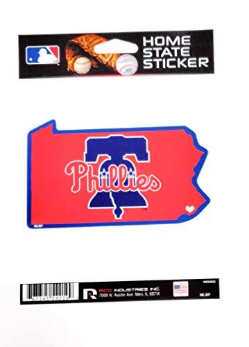 Rico Industries, Inc. Philadelphia Phillies Retro Bell Logo Home State Sticker Flat Die Cut Decal Emblem Auto Home Baseball
