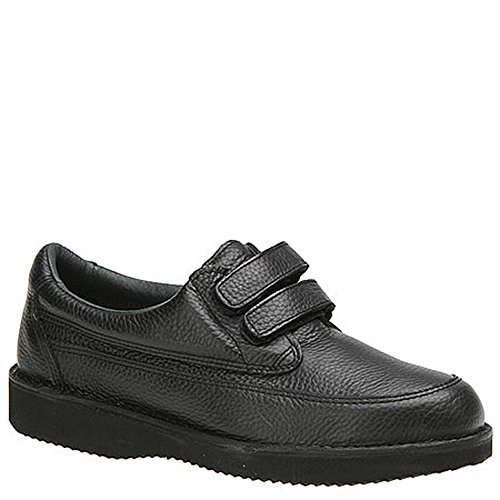 WalkAbout Hombres Black Velcro 000454 Leder Oxfords Black