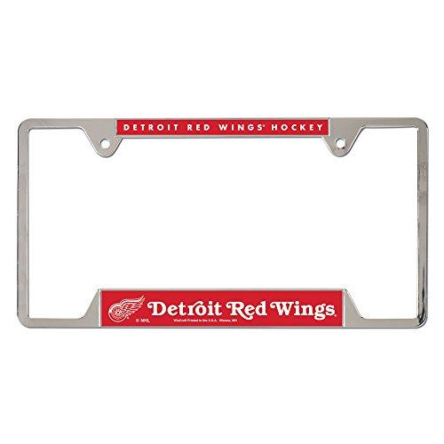 Wings Metal License Plate - NHL Detroit Red Wings Metal License Plate Frame