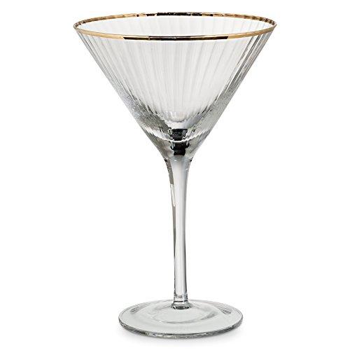 -VERONA/MART Optic Martini with Gold Rim (Optic Cocktail)