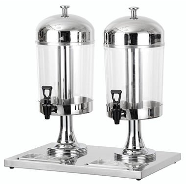 Chef's Supreme - 8 L Stainless Dual Bowl Juice Dispenser by Chef's Supreme