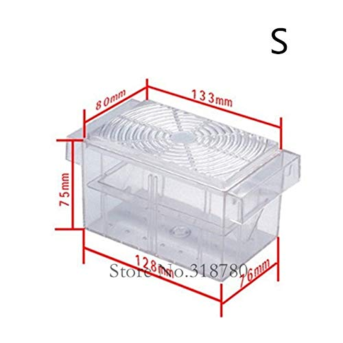 Cocas Small/Large Aquarium Fish Breeding Box Net Fry Trap Hatchery Floating Breeder Isolation Fish Baby Hatchery Accessories - (Color: A1, Size: Fish Hatchery)