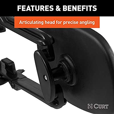 CURT 20002 5-Inch x 7-1/2-Inch Universal Strap-On Adjustable Extendable Towing Mirror: Automotive