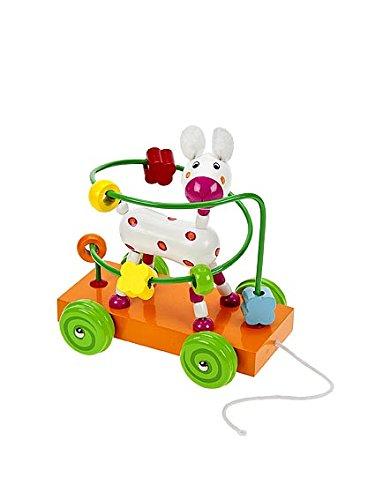 Jouet à tirer en bois premier age pour bébé ou enfants garçons ou filles - Labyrinthe chariot un chien Mousehouse Gifts MH-100250 Chiens
