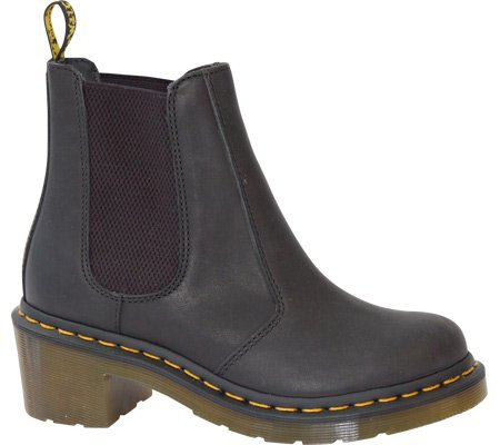 Dr. Martens Womens Cadence Chelsea Boot B00BCQRGEO 6 F(M) UK|Black Greasy