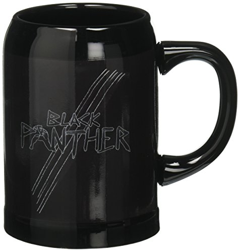 Capatin America Officially Licensed Black Panther Civil War Captain America Stein (Licensed Black Steins)