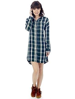 Alternative Womens Timberwood Yarn Dye Flannel Shirt Dress