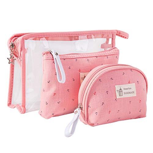 - Makeup Travel Bag Set Storage Case Toiletry Bag for Wemen,Pink