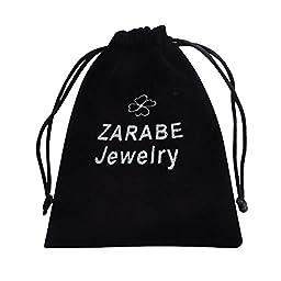 ZARABE Cremation Jewelry Teardrop Black Heart Urn Ashes Necklace Memorial Keepsake Pendant