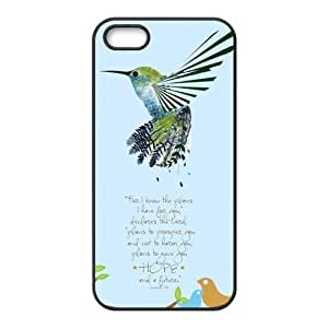 Hummingbird Bible Verse Belief iPhone 5 5S On Your Style Christmas Gift Cover Case by ruishername