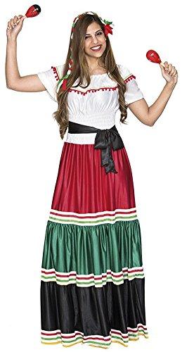 Fyasa 706477-t04 mexicano Mujer Disfraz, Tamaño grande ...
