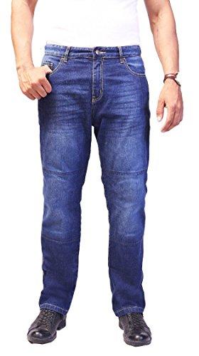 HB Men's Bikers Kevlar Jeans - Motorcycle Motorbike Jeans - Kevlar Jeans -34W X 32L