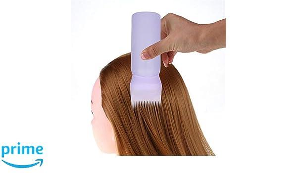 takestop Aplicador a Peine dosificador a Botella Degradado Suave Profesional para peluquería Color Tinta Tinte Pelo precisa Cepillo: Amazon.es: Electrónica