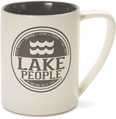 Pavilion Gift Company 67002 Lake People Ceramic Mug, 18 oz., - Mug Lake