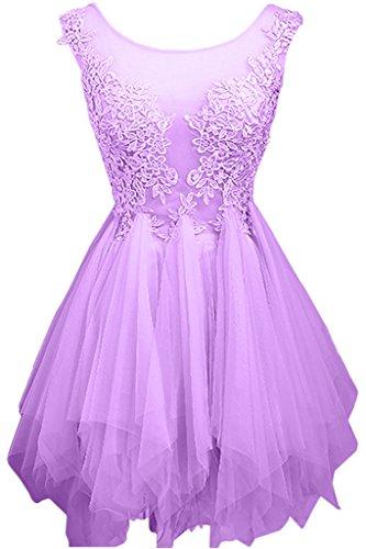 Royal Abendkleider mia Partykleider Kleider Cocktailkleider Kurz La Mini Jugendweihe Braut Lilac Tuell Festlichkleider Blau wUqngYE