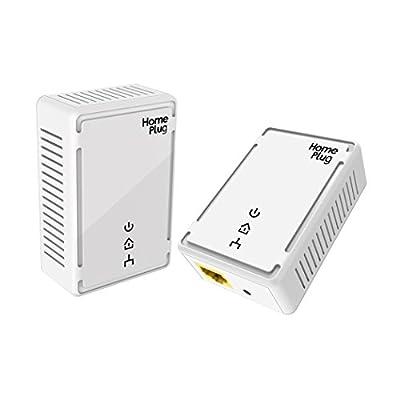 VICTONY Powerline Adapter Kit 500Mbps, HomePlug AV - Fast Ethernet, Powerline Ethernet Adapter