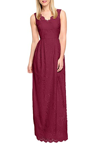 WOOSEA-Womens-Elegant-Sleeveless-Halter-Flroal-Lace-Bridesmaid-Maxi-Dress