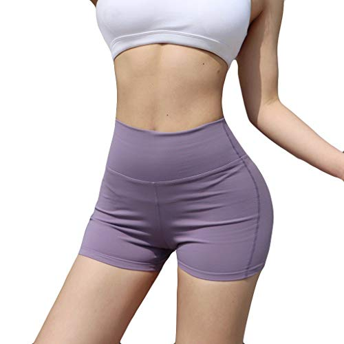 (BBesty Big Sale Women's Sexy Summer Casual Stripe Ladies Stitching Breathable Slim Hip-Tightening Fitness Running Yoga Shorts)