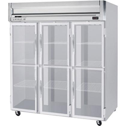 Beverage-Air HR3-1HG 78'' Horizon Series Three Section Glass Half Door Reach-In Refrigerator 74 cu.ft. capacity Stainless Steel Front Gray Painted Sides Aluminum by Horizon Series