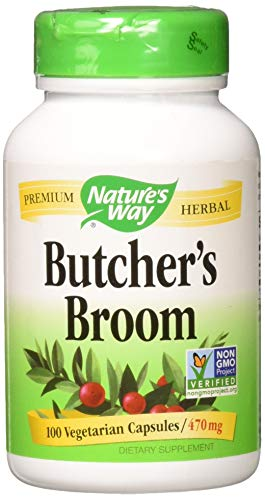 Nature's Way - Butchers Broom Root, 470 mg, 100 Capsules [Health and - Butchers Broom Way Natures