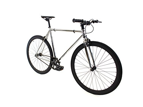 Golden Cycles Single Speed Fixed Gear Bike with Front & Rear (Single Speed Rear)