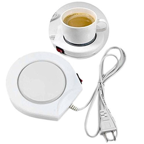 Tairacy Electric Warmer Cup Coffee Milk Heating Pad for Office House Use (US plug, AC 110V Gayly)