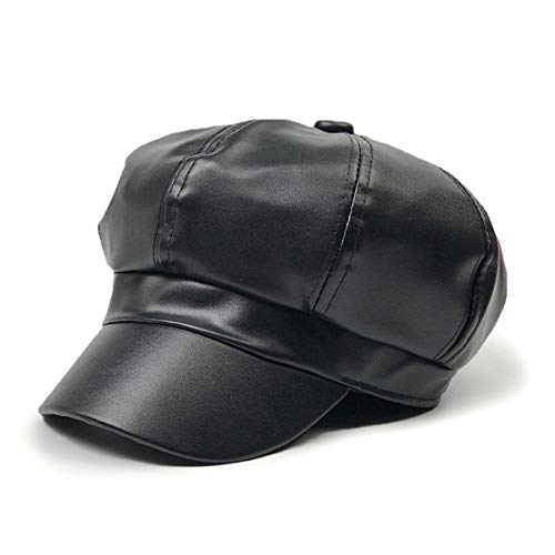 Leather Newsboy Hat (WETOO Women Newsboy Hat Cap for Ladies Visor Beret)