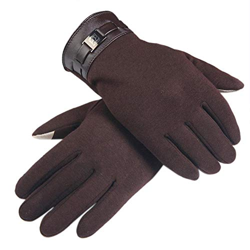 (Freeby Touchscreen Gloves - Conductive Fabric on Thumb and Forefinger enables use of Touchscreen Devices. (Brown))