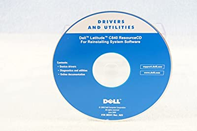 Dell Drivers and Utilities Latitude C840 Resource CD for Reinstalling System Software - PC Computer Program Software Install Disc Driver Part Number #3K541 Rev. A03