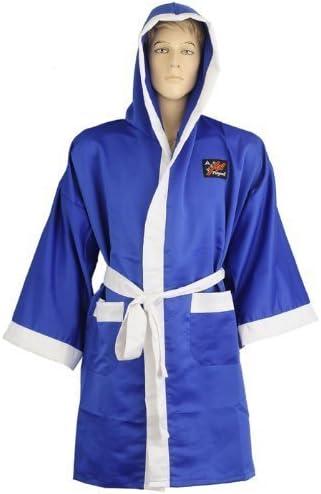 Bata de boxeo satinada color azul Playwell