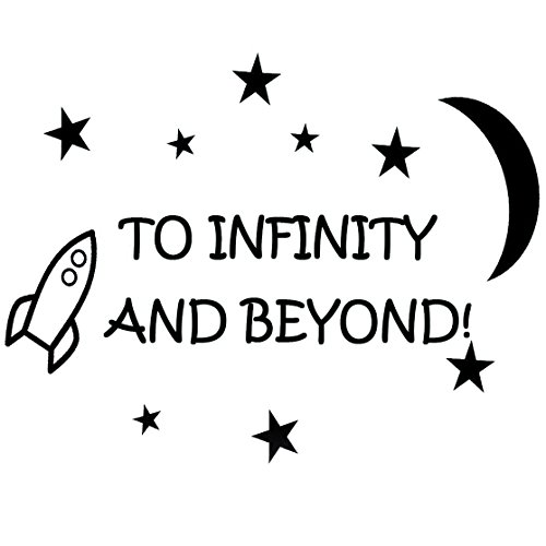 (To Infinity and Beyond! Vinyl Wall Decals Quotes Kids Room Wall Quote Nursery Wall Decals Boys Room)