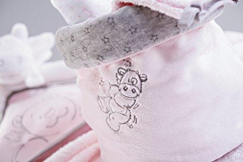 Noukie's - Cesta para accesorios, diseño de polvo de estrellas, colores surtidos Rose cocon / Gris Rose cocon / Gris