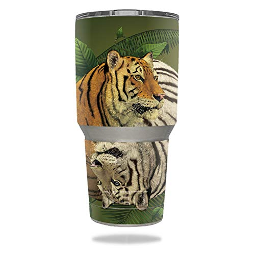 MightySkins Skin Compatible with YETI 30 oz Tumbler - Tiger Yin Yang | Protective, Durable, and Unique Vinyl Decal wrap Cover | Easy to Apply, Remove, and Change Styles | Made in The USA