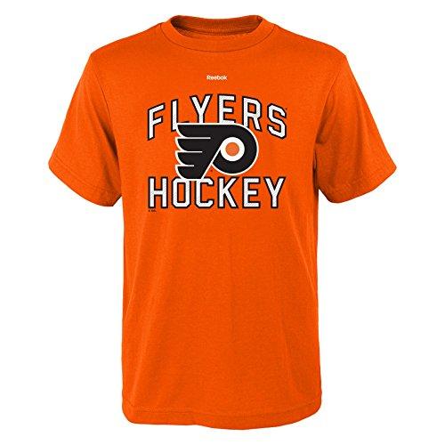 Outerstuff NHL Philadelphia Flyers Boys Open Net Short Sleeve Tee, Large/(14-16), Orange