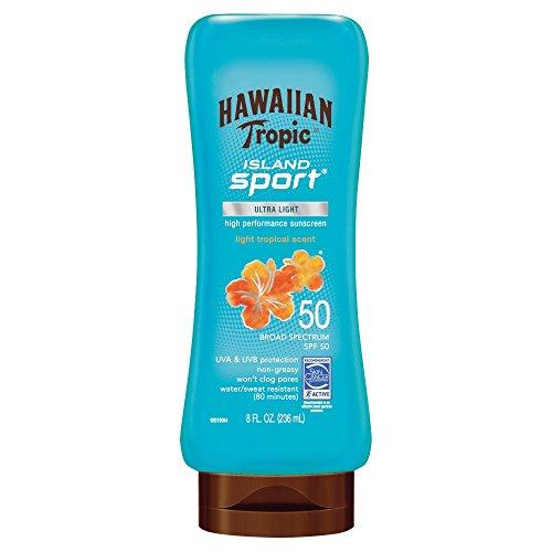 Hawaiian Tropic Island Sport Broad Spectrum Sunscreen Lotion, SPF 50-8 Fluid -