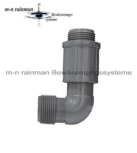 1 Au/ßengewinde x 1 Au/ßengewinde PVC-Verschraubung//Verteiler Rain Bird Winkel