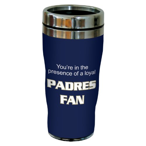 Tree-Free Greetings sg24099 Padres Baseball Fan Sip 'N Go Stainless Steel Lined Travel Tumbler, 16-Ounce