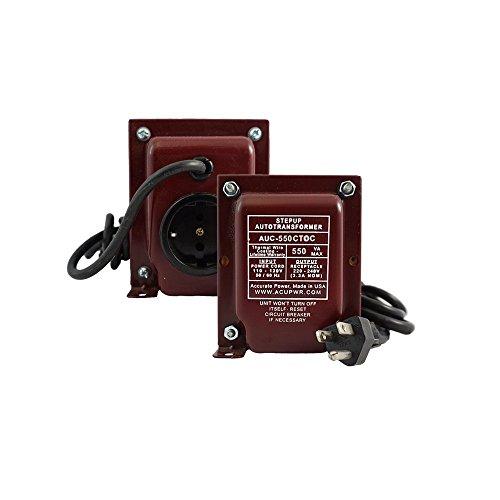 ACUPWR AUC-550 550-Watt 110-120 Volts/60 Hz to 220-240 Volts/50 Hz Step Up Voltage Transformer/Converter for Regrigerators/Coolers/Freezers