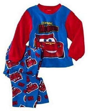 Disney Cars Baby Boys' Infant and Toddler 2pc Fleece Pajamas Set