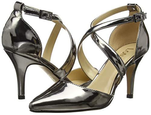 Mujer Marell Con Tacón Dj Lotus Punta Para Grey De Cerrada Zapatos pewter 68qCWwA