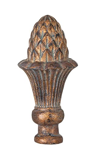 B&P Lamp Pineapple Style Large Lamp Finial, Copper (Finials Copper Lamp)
