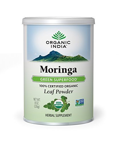 ORGANIC INDIA Moringa Supplement Powder, 8 Ounce (Best Wheatgrass Powder Brands In India)
