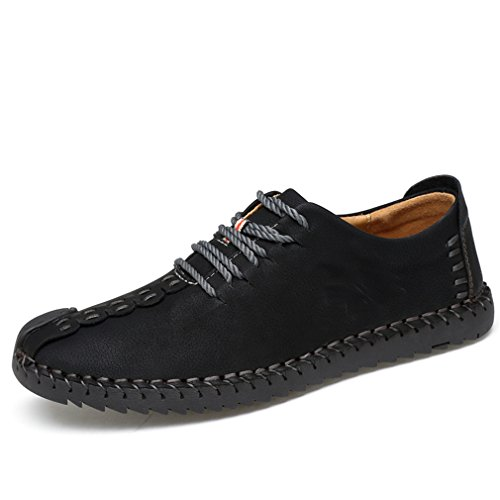 ZIITOP Suede Casual Shoes Men's British Style Handmade Leather Oxford Shoes Flats Lace-up Loafers Flats Sneakers