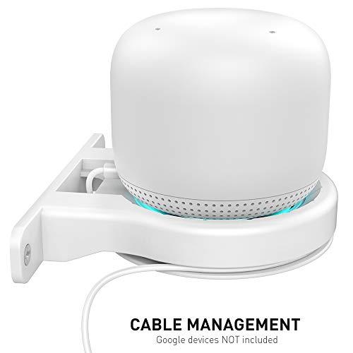 🥇 Delidigi Soporte de Pared para Google WiFi WiFi Router Google Nest [Gestión de Cables integrada]