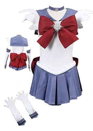 Sailor Moon Sailor Saturn Halloween Cosplay Costume Tomoe Hotaru Halloween (6XS-Child S)